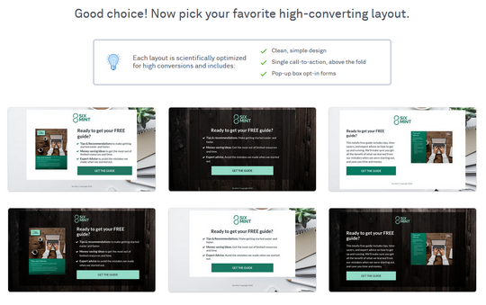 leadpages step leadpages free landing page templates