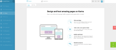 can you build websites in kartra