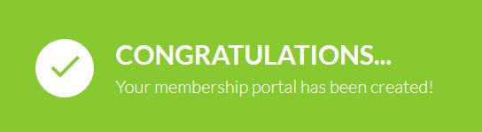 membership portal created